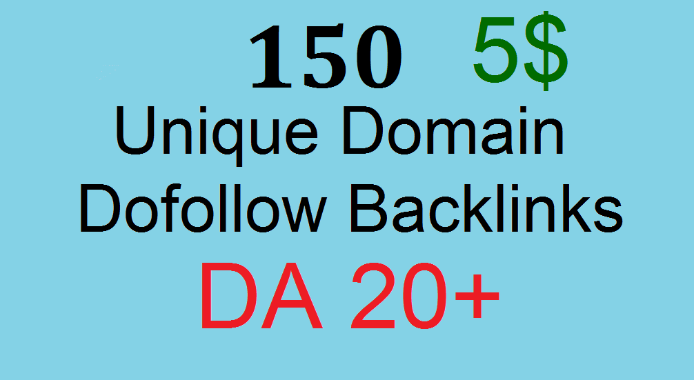 150 Manual Unique Domain Dofollow Blog Comment With Da 20plus