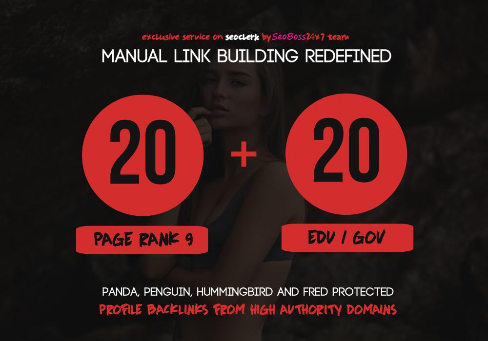 20 Pr9 + 20 Edu - Gov High PR SEO Authority Backlinks - Fire Your Google Ranking