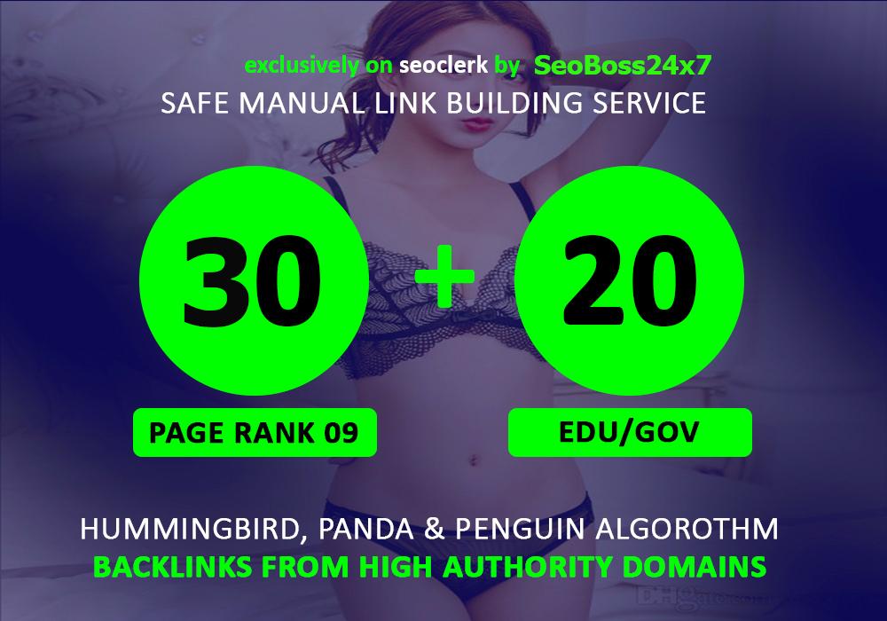 30 Pr9 + 20 Edu - Gov High PR SEO Authority Backlinks - Fire Your Google Ranking