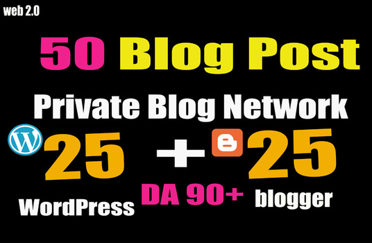 Limited Time -Exclusive 50 PBN POSTs WordPress and Blogger High DA to Rank your Websites