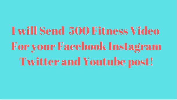 500 Fitness Training Videos For Facebook Instagram Twitter Blog Website and Youtube Post