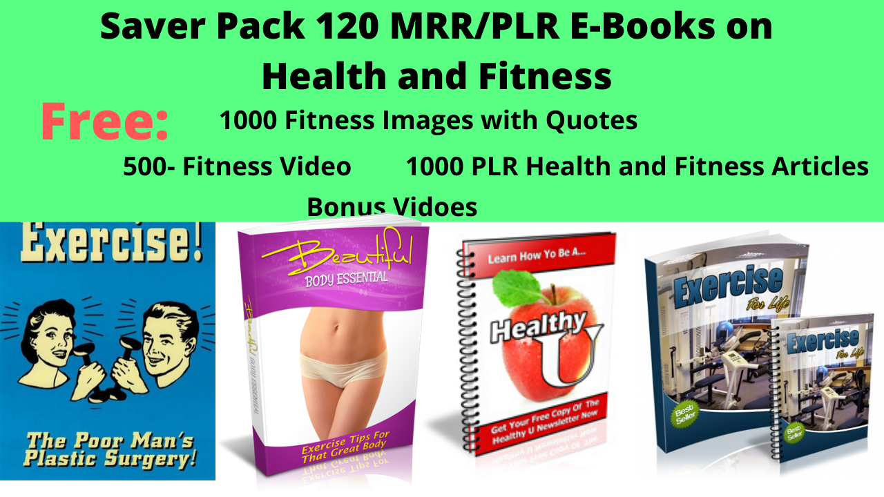 Economy Pack ebooks,  Quotes,  Articles and Videos for Fitness Yooga and Health