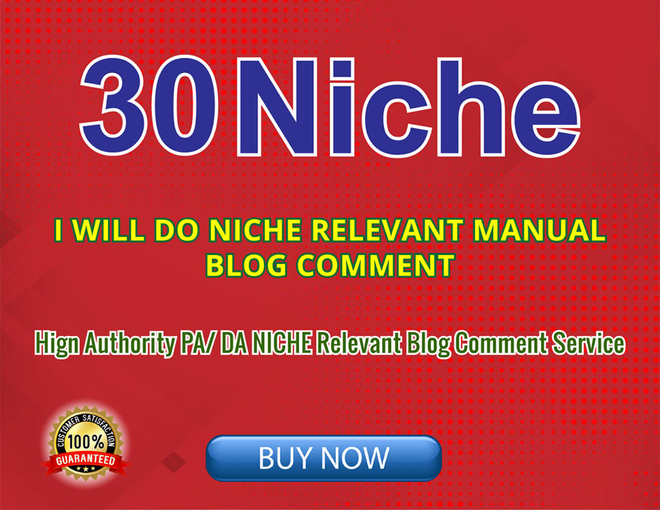 do 30 niche blog comments High Quality link