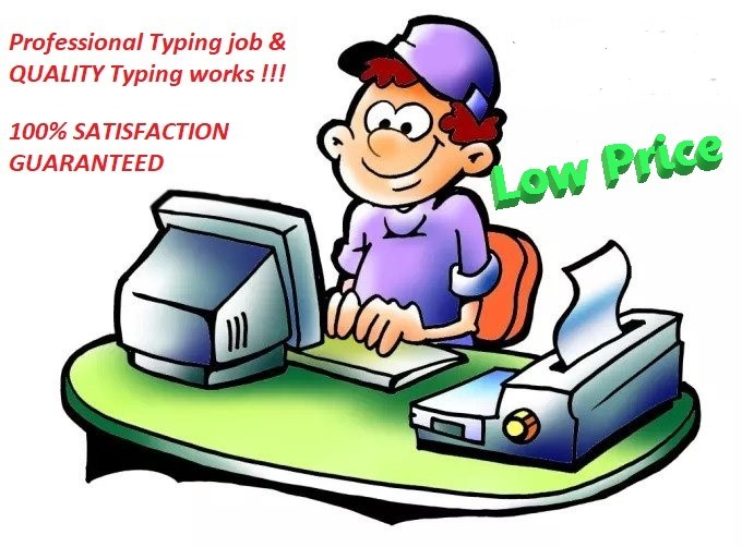 I will do professional typing within 24 hours
