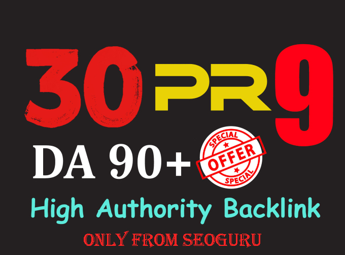 Manually Do 30 Pr9 DA 80+ Safe SEO High Authority Backlinks 30+ Domain HIGH QUALITY BACKLINKS for