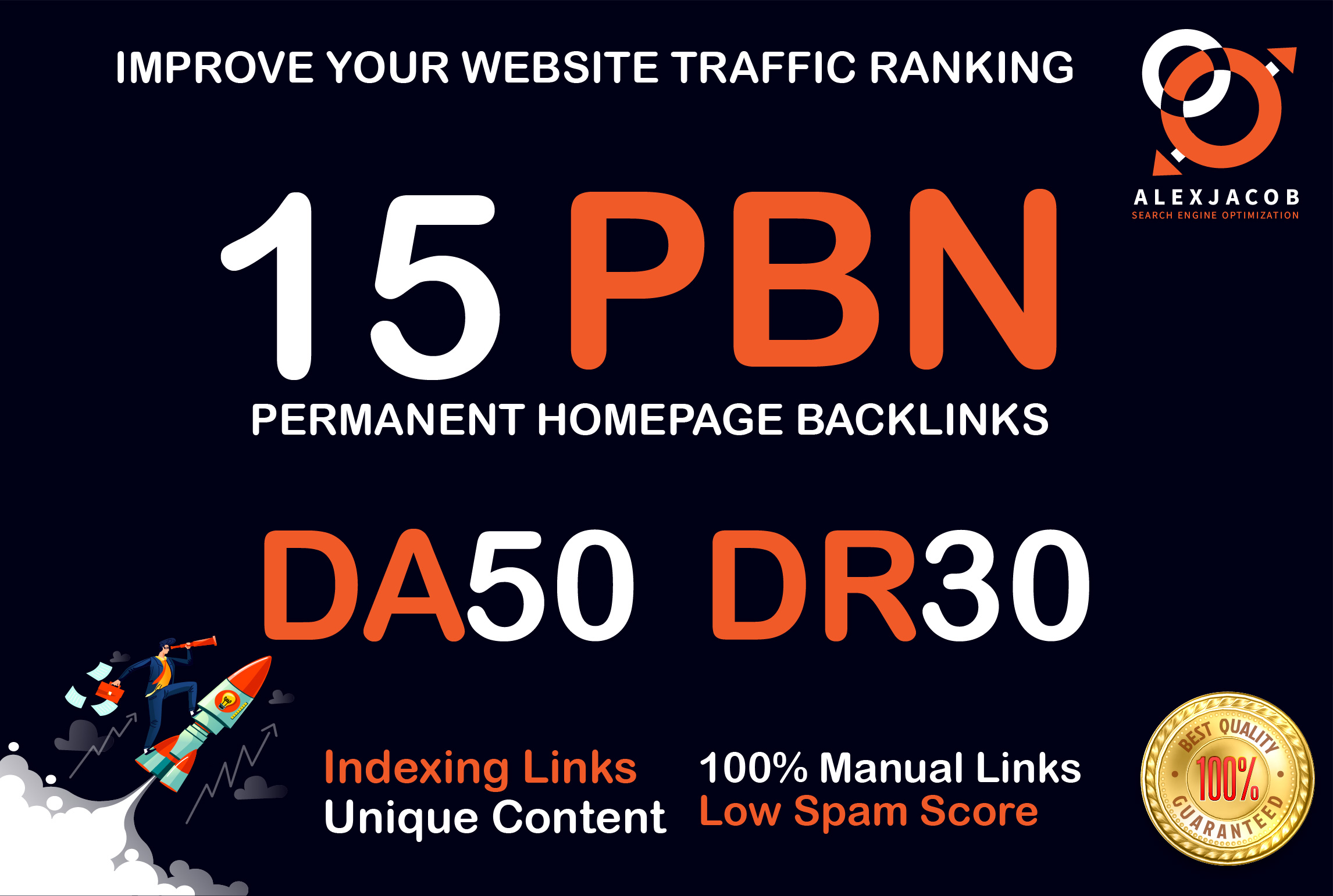 Build 15 High Quality PBN with DA 50+ And DR 30+ Permanent Dofollow Backlinks