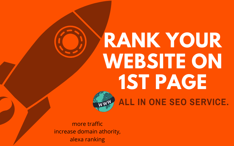 Rank Website on 1st Page - All IN One 30 Days SEO Service,  High Quality Backlinks