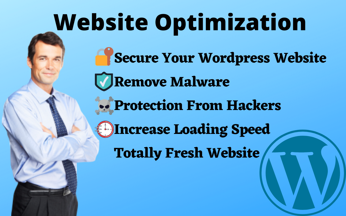 I will Secure Your Wordpress Website,  Remove Malware and Increase Website loading Speed SEO