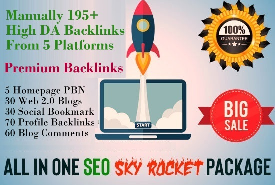 195+ Manually All In One Premium SEO Service - Skyrocket Package