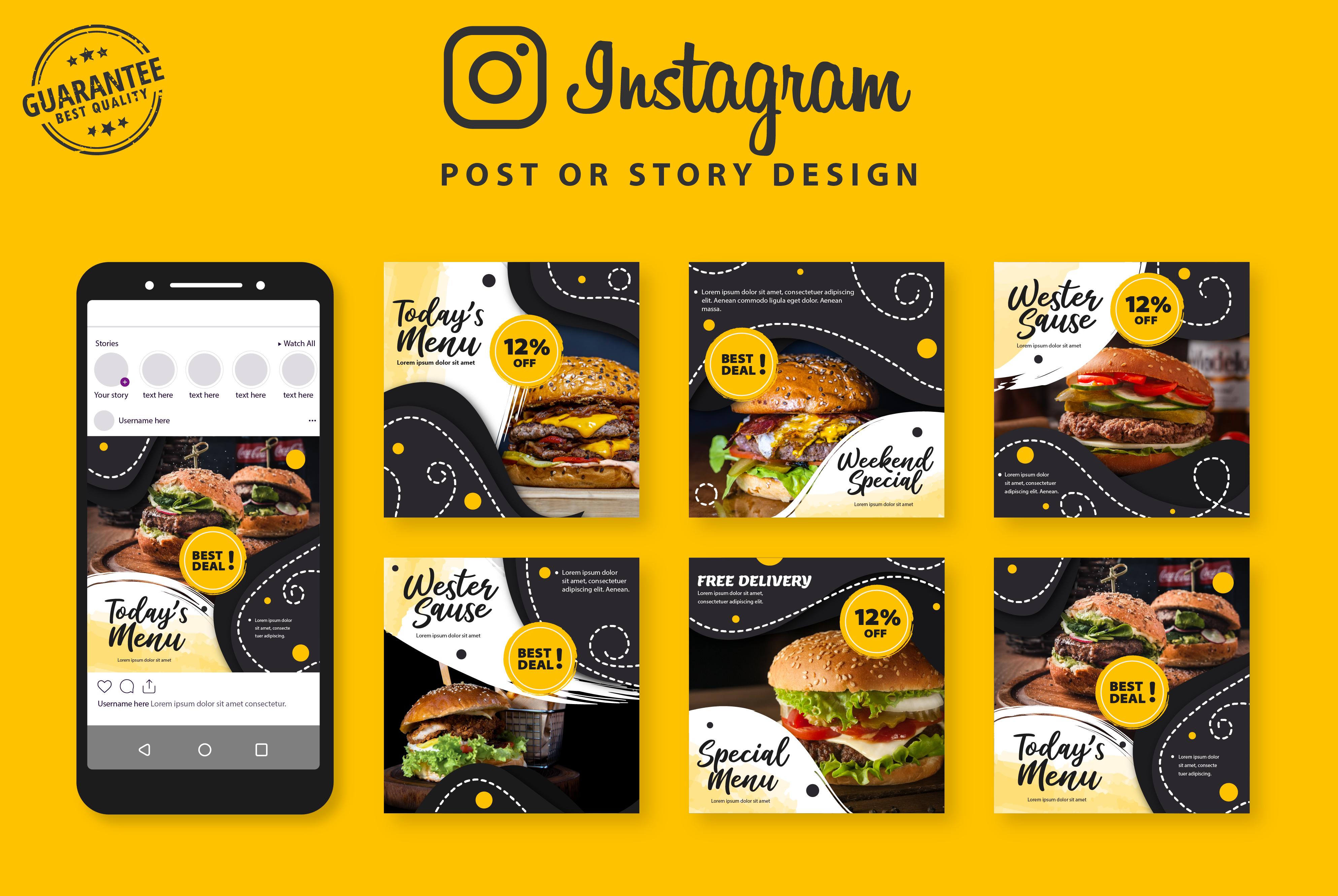 I will create creative instagram post design