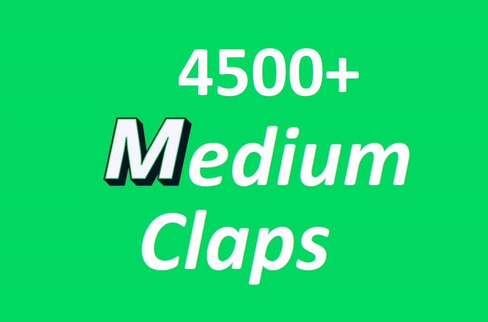Get you 4500 Promote Medium claps your article