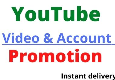 YouTube Video Promotion & professional Marketing