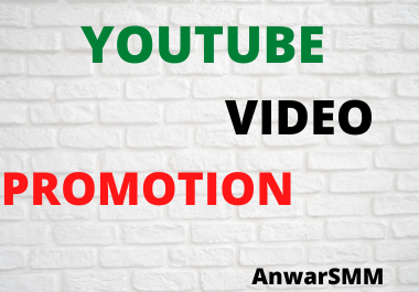 High quality YouTube Promotion & social marketing