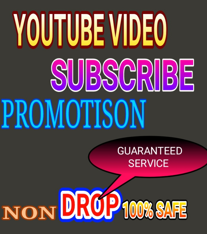 High quality Real YouTube video promotion non drop guarantee very fast delivery