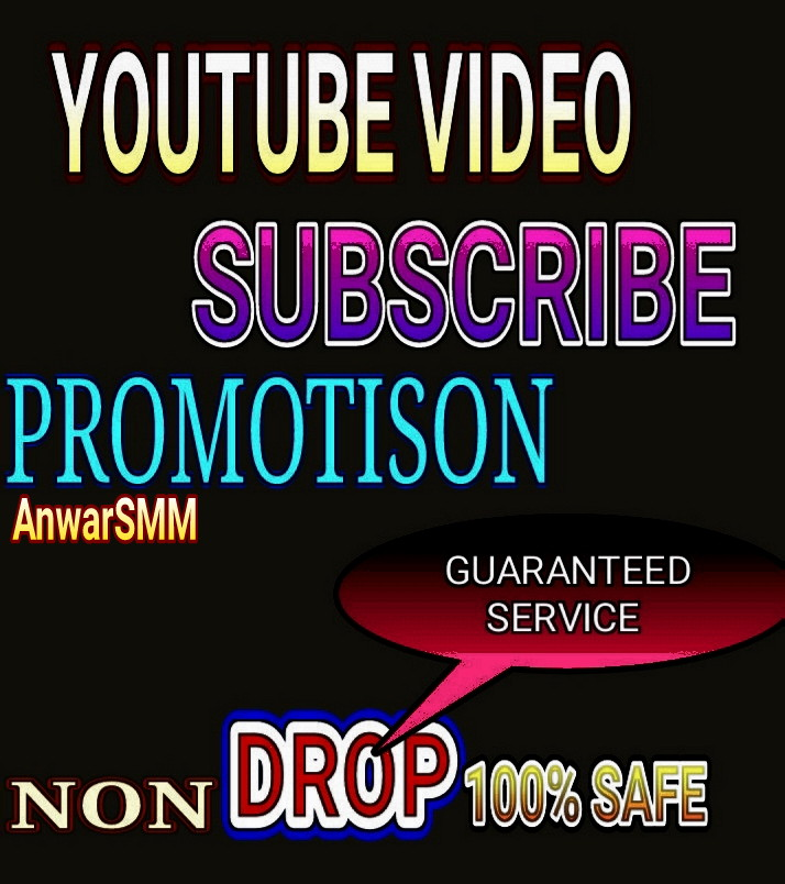 Real YouTube video promotion Non Drop service very fast delivery,  Guaranteed