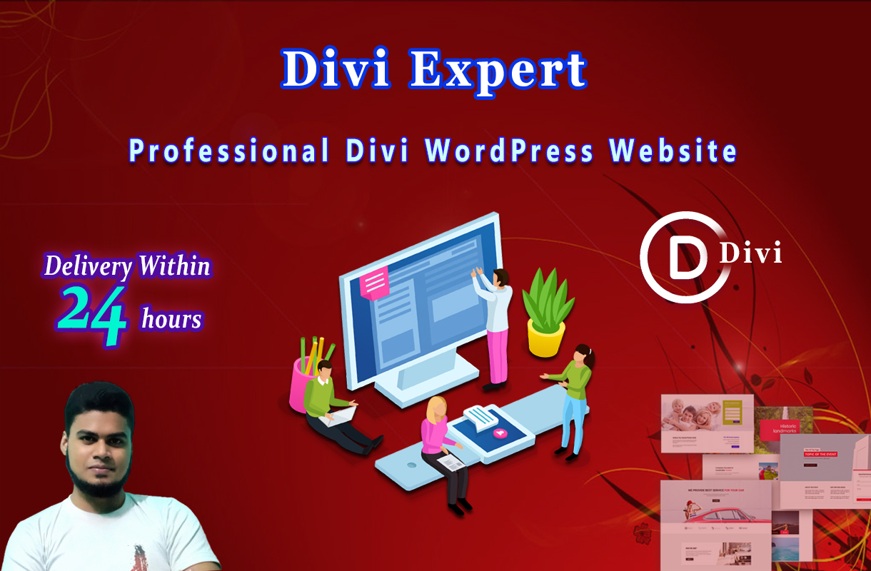 I will Design Divi WordPress website with Divi theme & Divi Builder