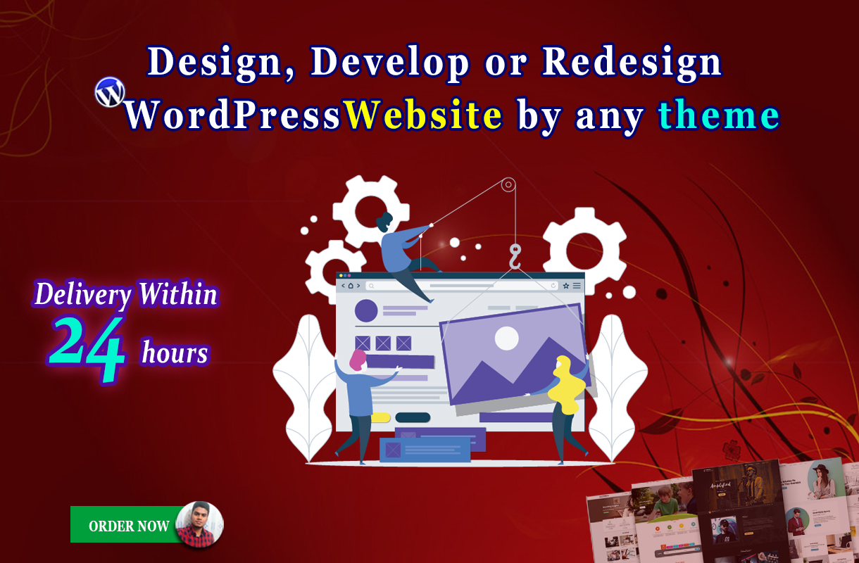 Design,  develop or customize wordpress website by any theme