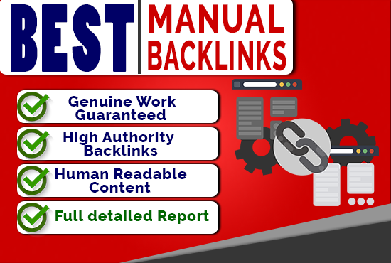 Rank your Site Today- Best Manual SEO Backlinks Package