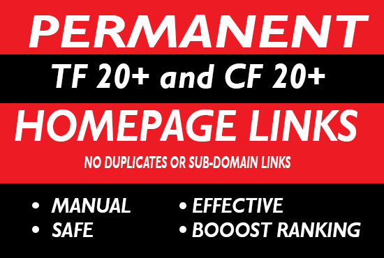 10 High Da Pa Tf Cf Permanent Homepage Pbn Backlinks