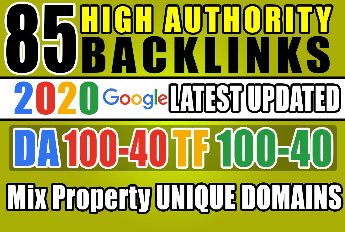 build 85 TF100 DA100 sites unique SEO backlinks