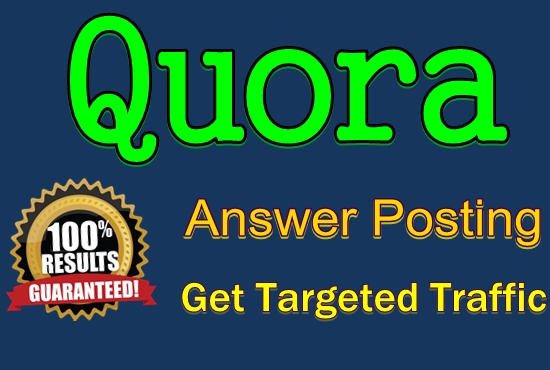 Guaranteed 12 High Quality Quora Answers Backlinks Service