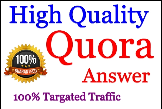 Get offer 3 HQ Quora answer & Upvotes