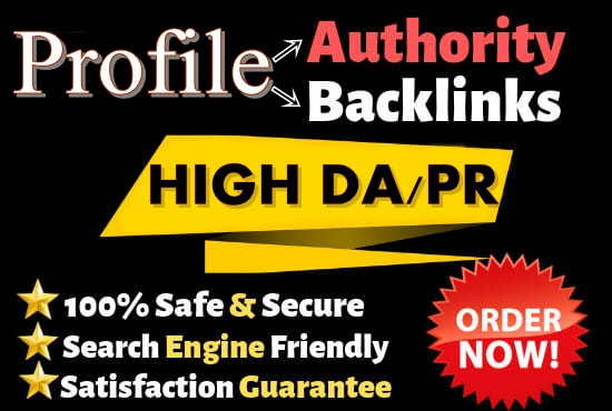 I will Create 20 Profile Backlinks On High Page Rank Sites