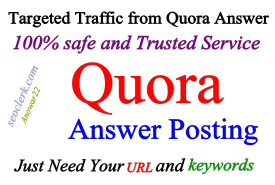 Promote your website in 12 HQ Quora Answers with URL
