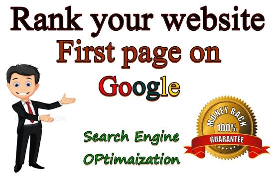 Offer guaranteed Rank your website in Google 1st page