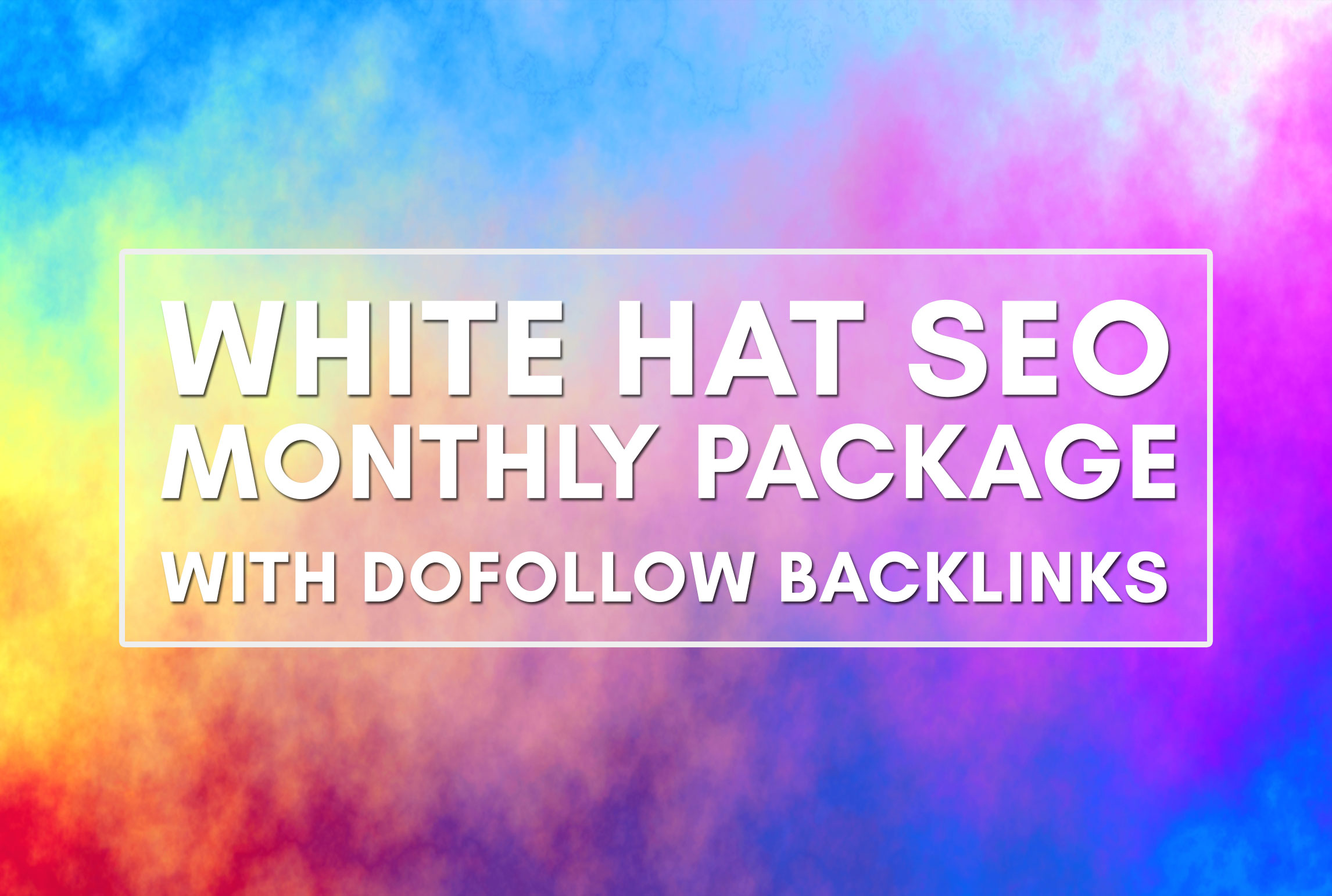 I do provide white hat SEO monthly package with dofollow backlinks
