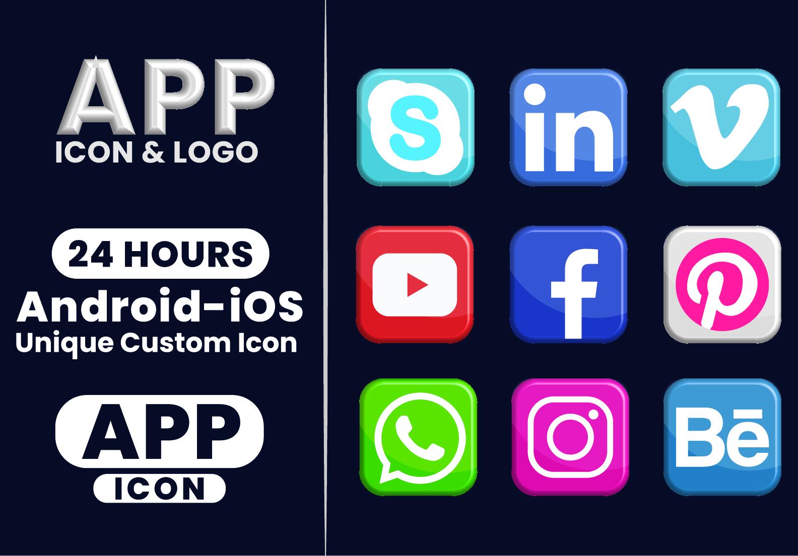 I will design modern app icon logo