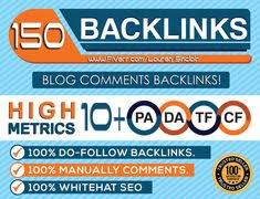 manually 150 do-follow blog comments backlinks actual page rank pr6 to 2