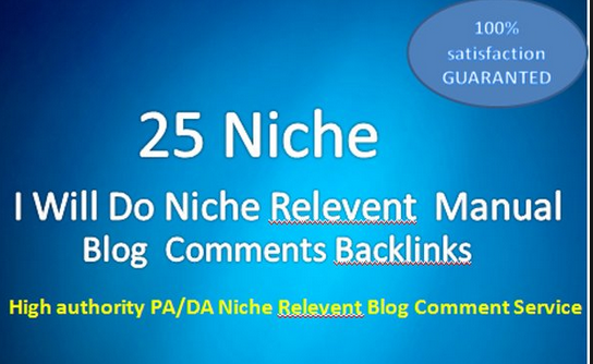 25 high quality niche relevant blog comments backlinks