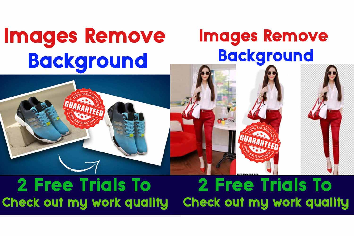I will do background remove and text romove images