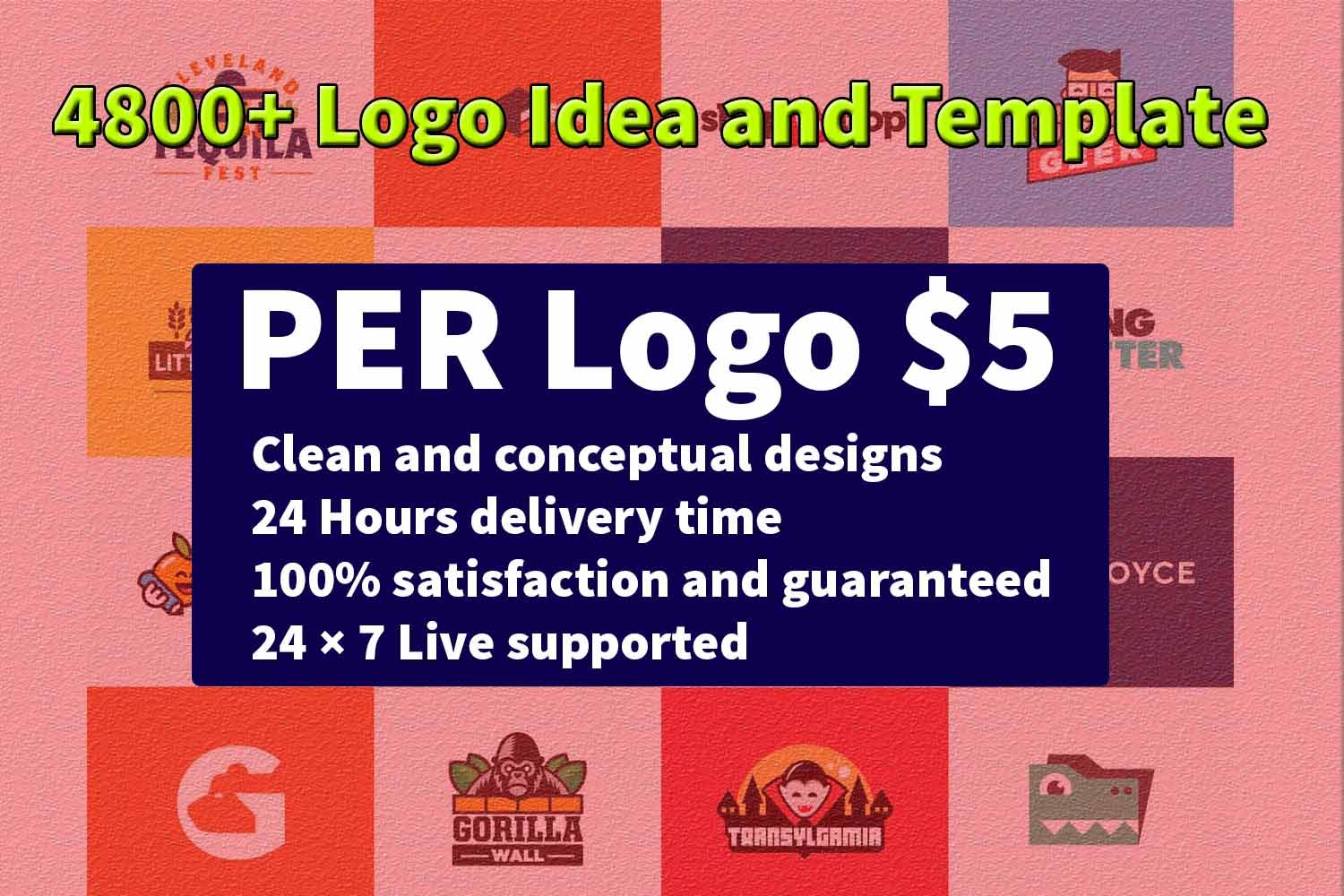 I will do modern logo design in 24 hours