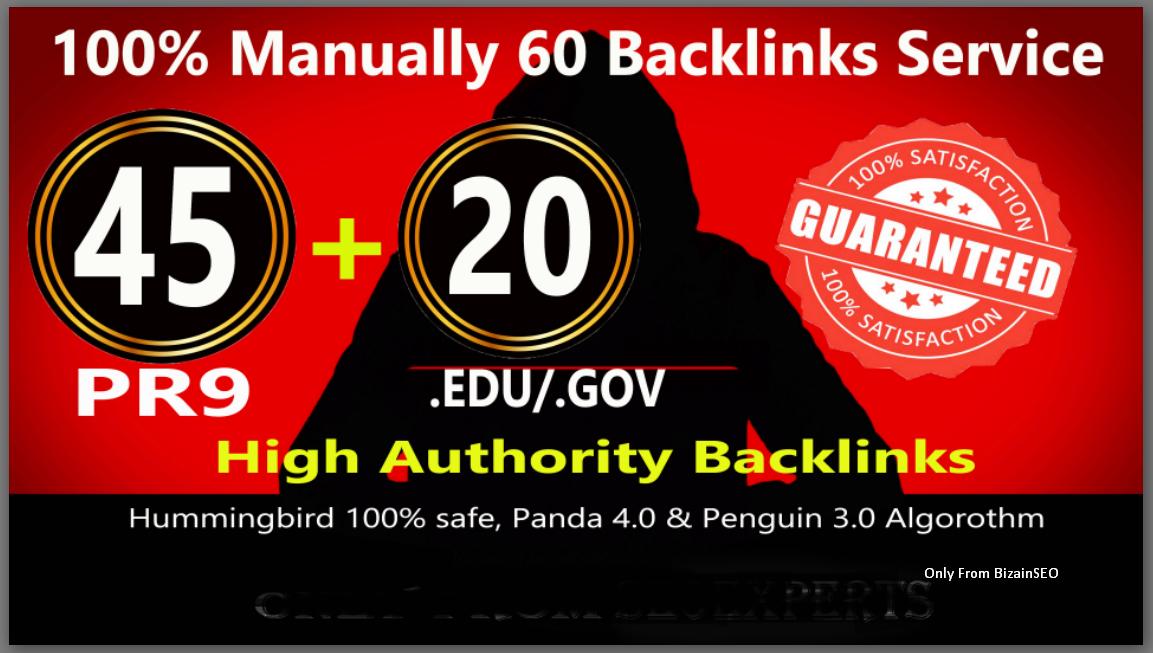Fire Your Google Ranking with 45 Pr9+ 15 Edu/Gov Safe seo Authority Backlinks