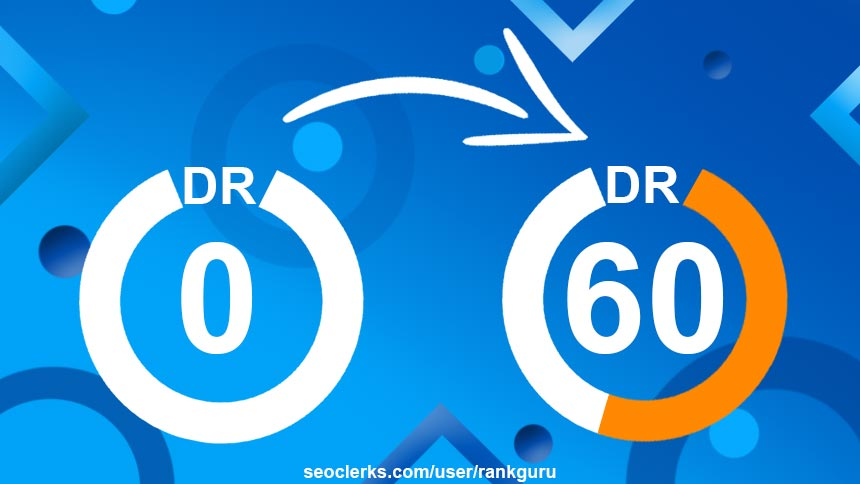 Increase Ahrefs Domain Rating from DR 0 to DR 50+ Guaranteed