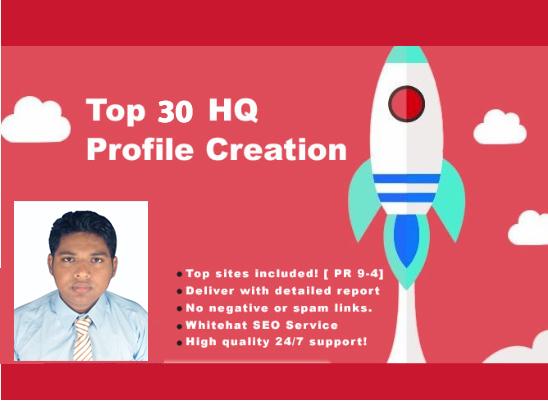 30 social profile creation backlinks boost your website instenly