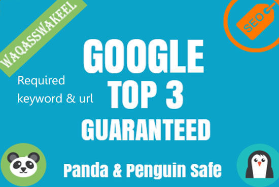 Guaranteed I will rank your website in google top 3.