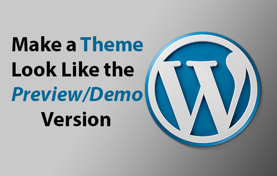 Install your wordpress theme and setup demo