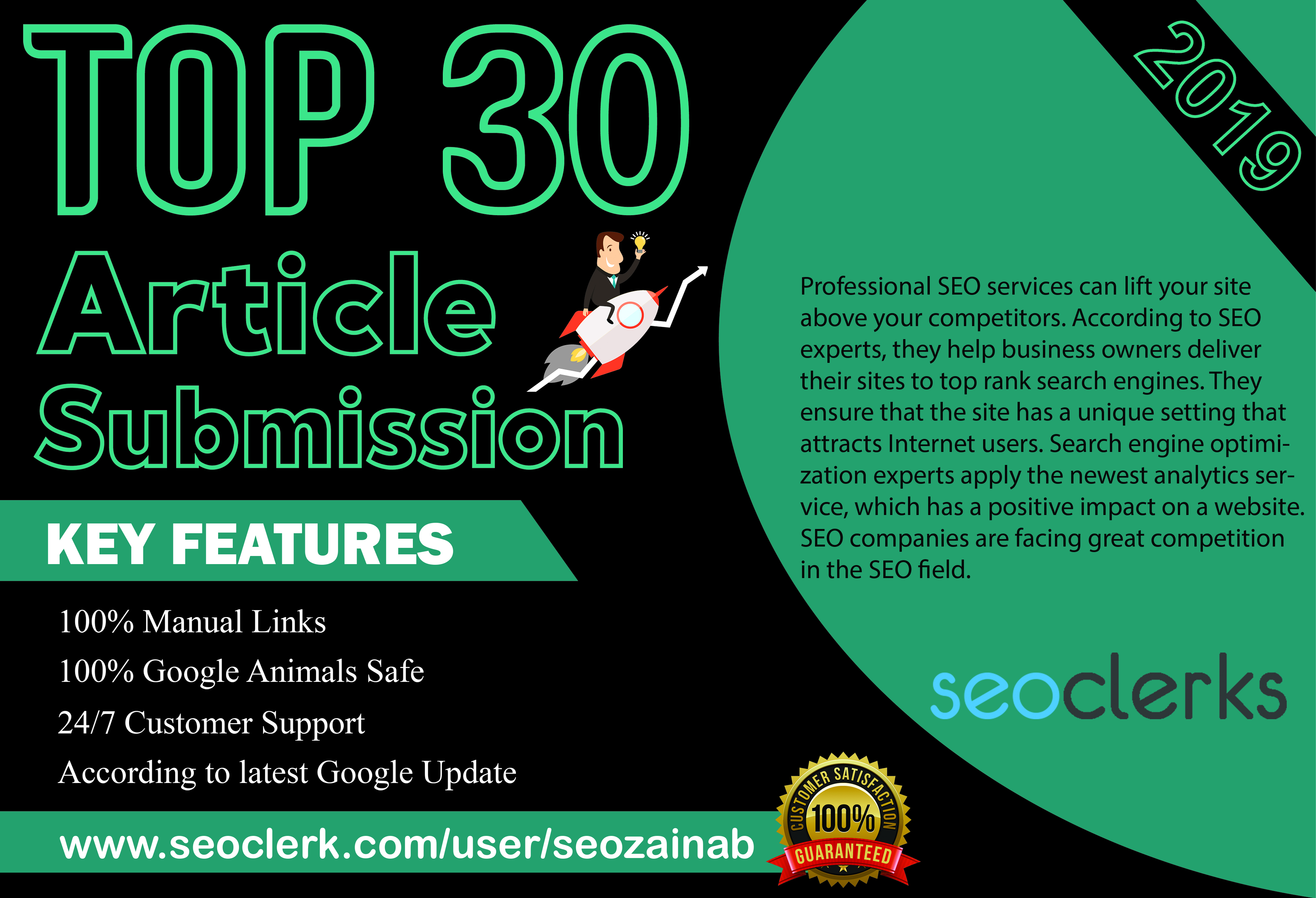 I Will Provide Manually Submit Article in 30 High Quality Article Submission Website