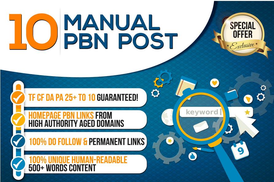 I Will Provide 10 HomePage PBN All Dofollow Backlinks High Qualitiy Links DA 20+