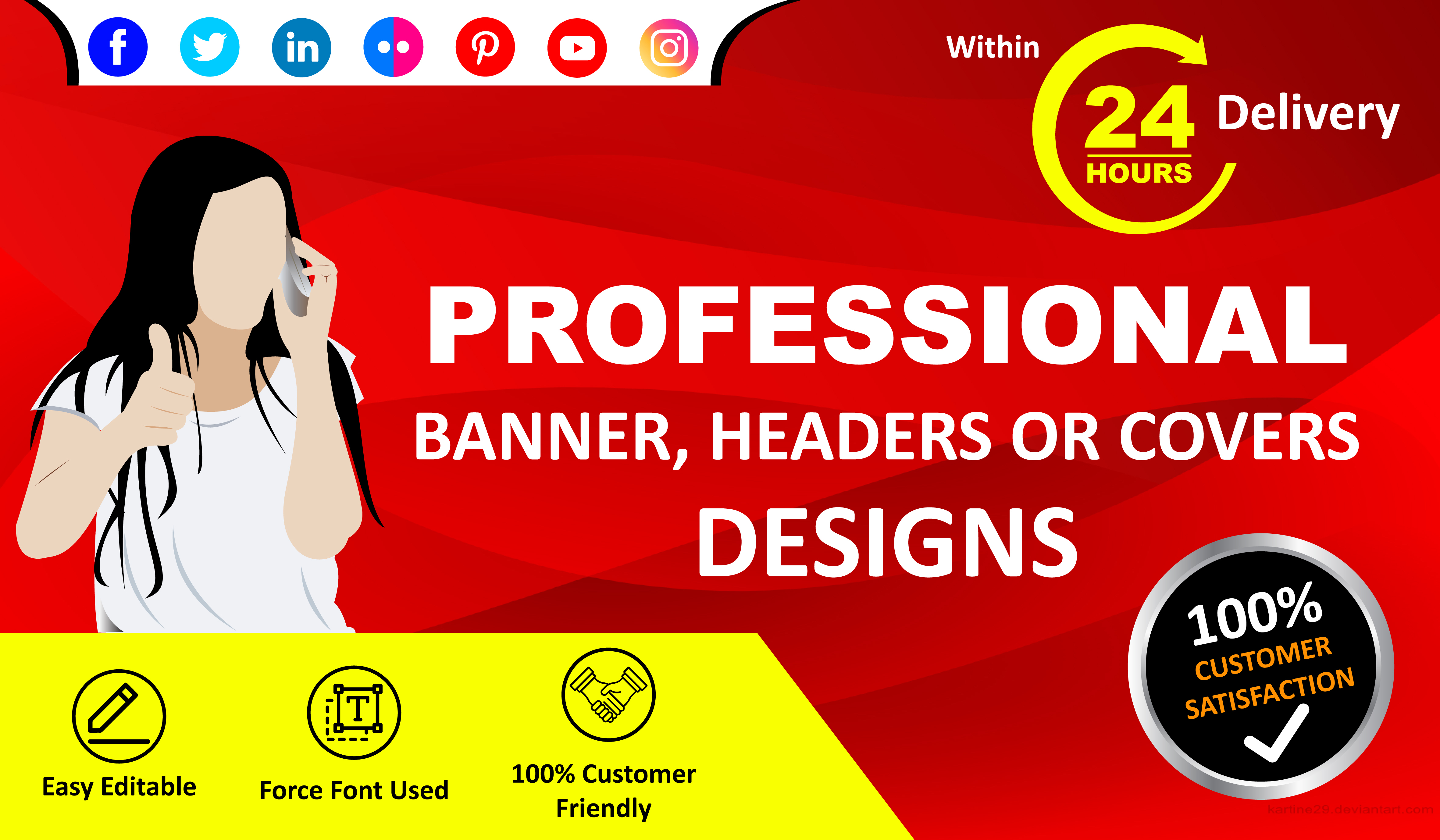 Design Your Facebook Cover or Social Media Banner within 24 hrs.