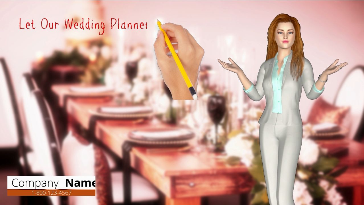 WELCOME EXPLANATION PRESENTATION Video. 3D Avatar,  Whiteboard.