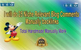 do 25 manually high da blog commenting