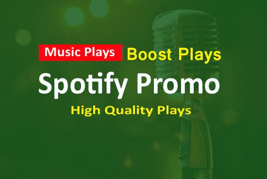 Music promotion 1000 Album Artist Playlist Hits Organic Listeners