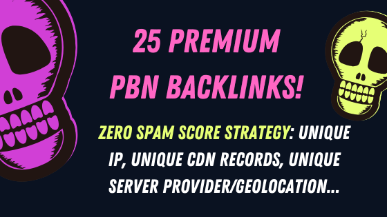 25 Premium PBN with Unique IP,  Unique Server Provider/Geolocation,  Unique CDN Records