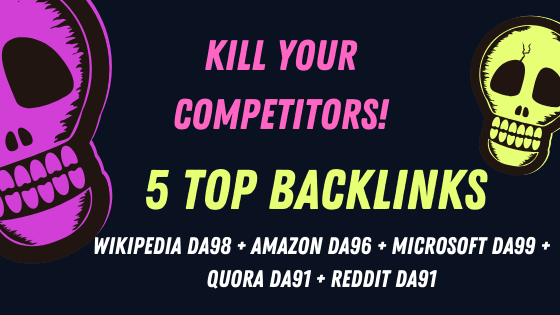 Wikipedia + Amazon + Microsoft + Reddit + Quora,  The 5 Most Incredible Backlinks in the World