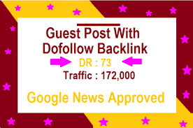 guest post on google news approved DR 73 news blog