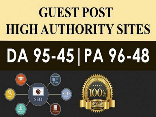 I Will Do 8 High Quality Guestpost DA 95- 45 Do-Folow premanent Backlink